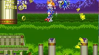 [TAS] Sonic 3 & Knuckles - Newgame+ Ring-attack - Camhack + Ring locations