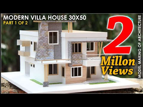 Model making of MODERN ARCHITECTURE VILLA | PART 1 of 2