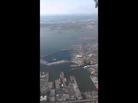 Landing at LaGuardia Airport march 05 2016. Aterrizaje en LaGuardia.