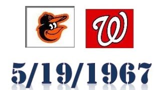 Fan-o-Matic's Birthday Ball 1967 Orioles @1967 Senators replay 5/19/67
