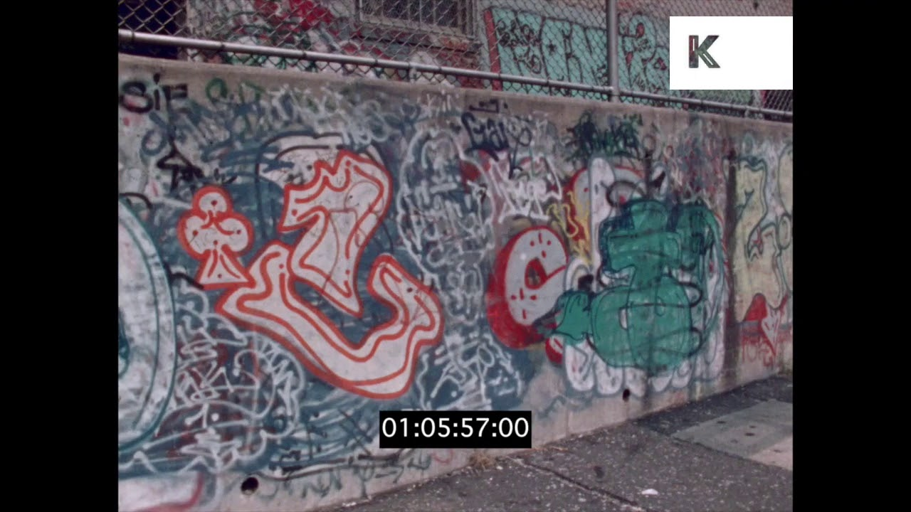 Graffiti in gritty new york 1970s in hd from 35mm