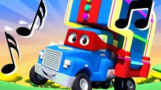 超级卡车卡尔在汽车城 ???? ⍟ 音乐播放机卡车 - 国语中文儿童卡通片 Car City 動畫合集 - Mandarin Truck Animation for Kids