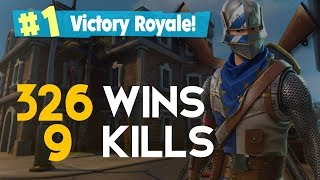 SOLO-9 KILLS 326 WINS (Fortnite Battle Royale free) [PT-BR]-Softe