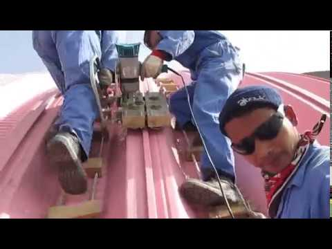 k span roll forming machine-Arched Roof Project
