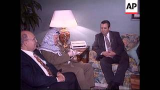Spain - Barak And Arafat Hold Talks T/I: 10:10:38 Israeli Foreign Minister Ehud Barak held his first m