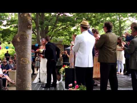 Wedding at the Crazy Quilt Music Festival, Greenbelt, Maryland, May 16, 2015