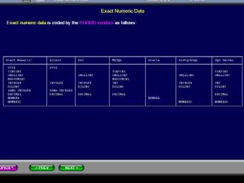 SQL 039 Data Types, Exact Numeric, Compare Database Usage - YouTube