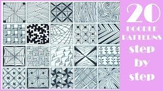 zentangle patterns step doodle easy simple pattern zen doodles zentangles drawings