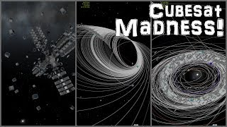 KSP: Messing With HyperEdit 3: Cubesats and Orbit Art!