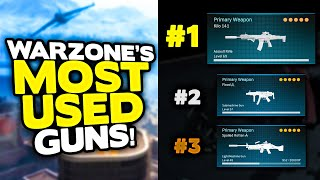 *NEW* Warzone MOST USED BEST GUNS ranking from WORST to BEST! (Warzone best loadouts)