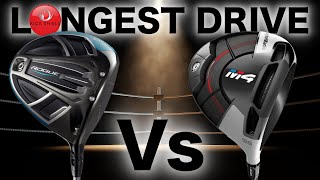 LONGEST DRIVE COMP! CALLAWAY ROGUE Vs TAYLORMADE M4 DRIVER