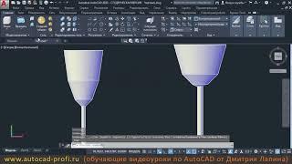 Видеоурок по AutoCAD 2020: 3D команда Вращать