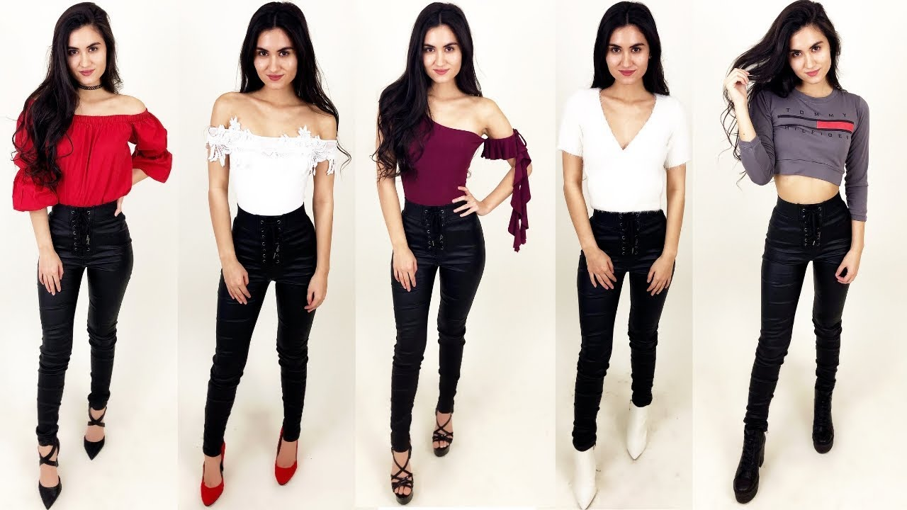 How To Style High Waisted Leather Pants