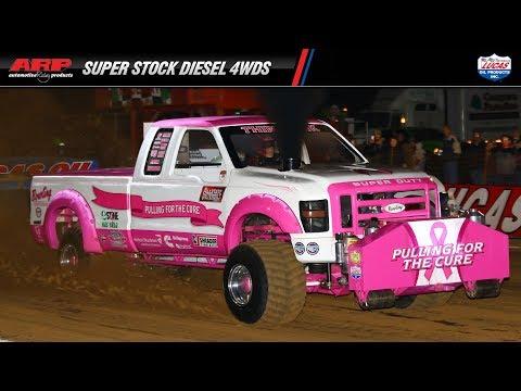 PPL 2017: Super Stock Diesel 4wd Trucks pulling at Pine Lake Raceway