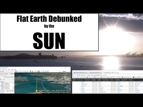 Flat Earth Debunked by the SUN