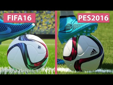 FIFA 16 vs. PES | Pro Evolution Soccer 2016 Graphics Comparison PS4 [FullHD][60fps]
