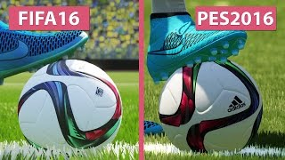 FIFA 16 vs. PES Pro Evolution Soccer 2016 Graphics Comparison PS4 FullHD 60fps