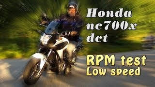 Honda nc700x review, Sport and Drive mode vs Manual, RPM test dct version.