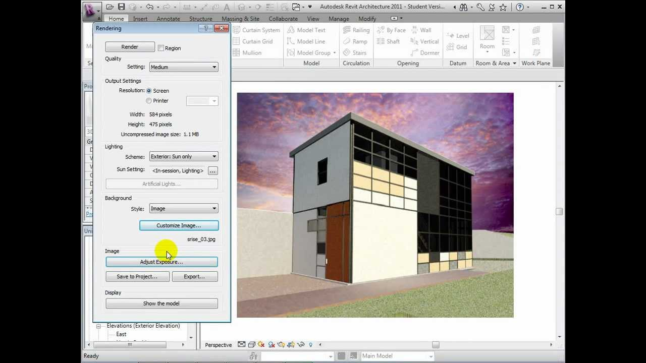Revit Architecture - Creating Exterior Rendered Vievs - YouTube