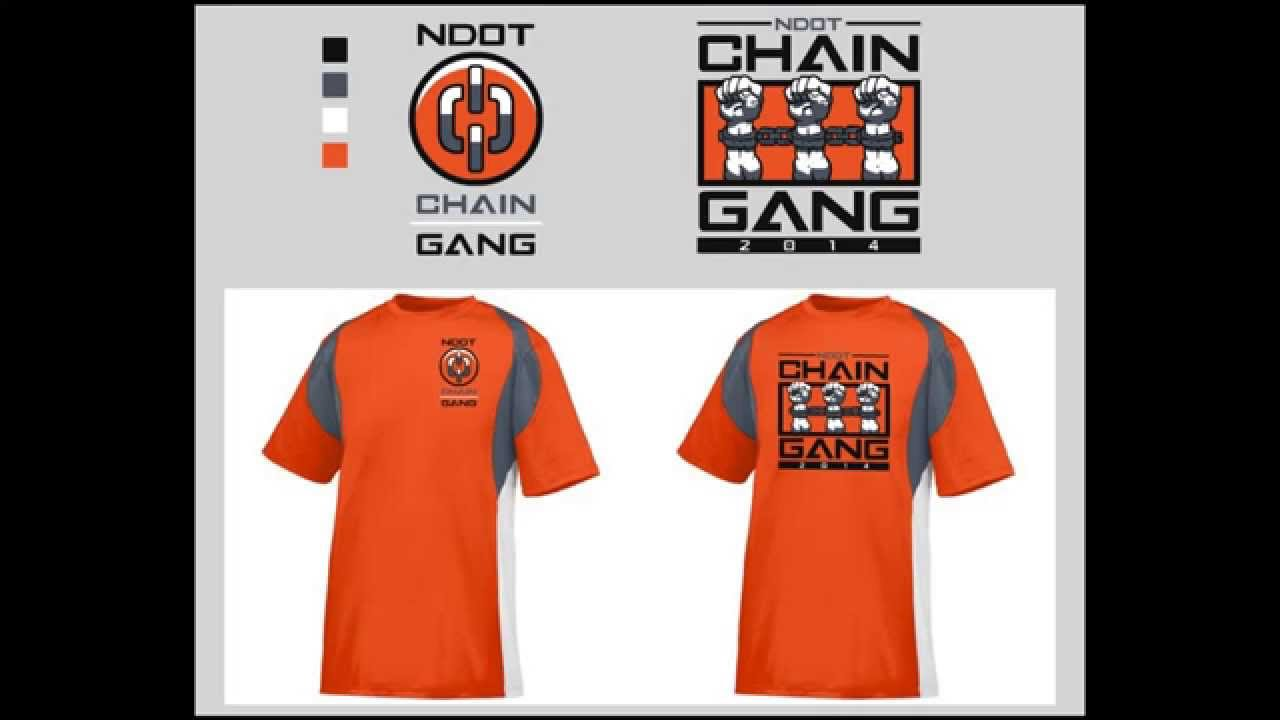 Ndot Chain Gang Running Team Logo T Shirt Design Speed Design