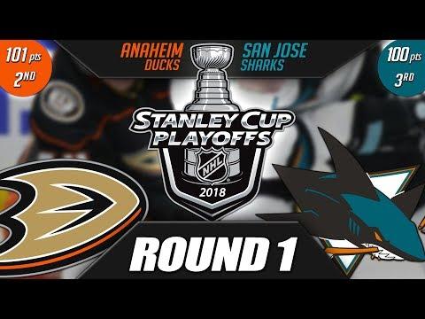 Anaheim Ducks  vs San Jose Sharks - Round 1 Playoff Preview
