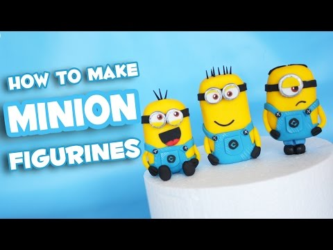 How to make Minion fondant cake topper figurine tutorial