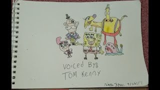 Drawing Characters Voiced By Tom Kenny