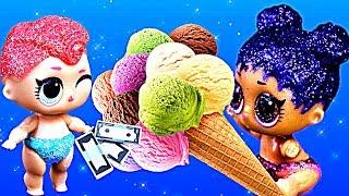 Куклы лол сюрприз хотели купить мороженое, но что то пошло не так. Мультик #ЛОЛ