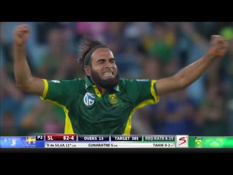 South Africa vs Sri Lanka - 5th ODI - Dhananjaya de Silva Wicket