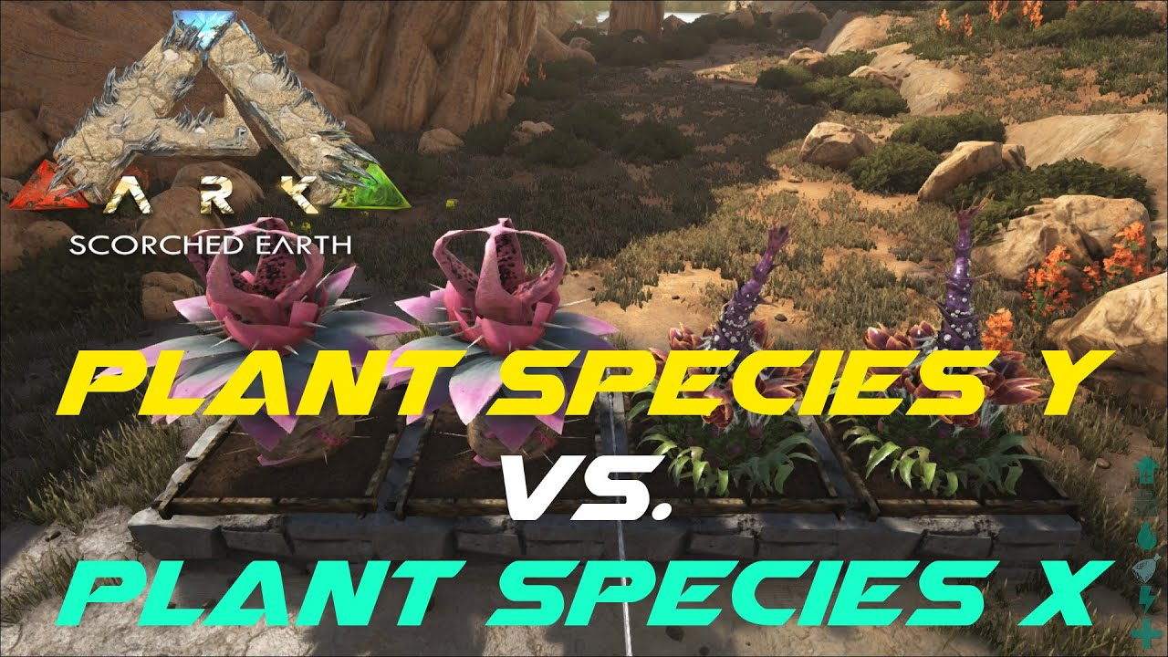 plant species y vs plant species x ark scorched earth