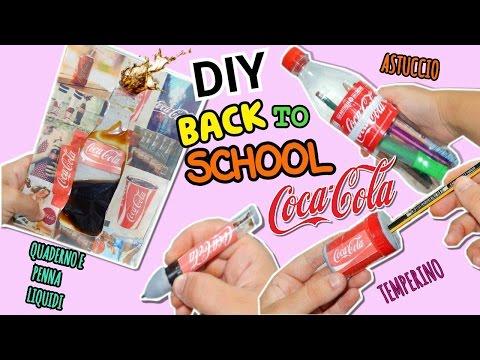 QUADERNO LIQUIDO COCA COLA,PENNA,ASTUCCIO(DIY Back To School CocaCola ITA)Collab.Nancy Joli Bijoux