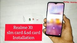 REAL ME XT ; How to insert sim & sd card in Real me Xt