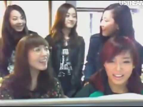 Wonder Girls - This Time (Chinese Version Snippet) @ UStream Chat 100417