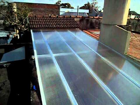 Techo fijo aluminio y policarbonato alveolar de 8mm - Planchas para tejados ...