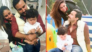 Taimur Ali Khan Cuts His 1st Birthday Cake With Kareena Kapoor & Saif Ali Khan