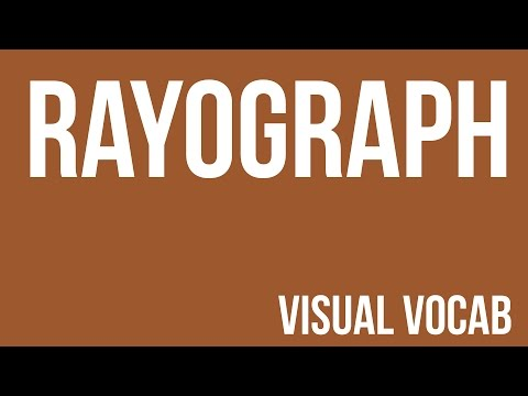 Rayograph defined -