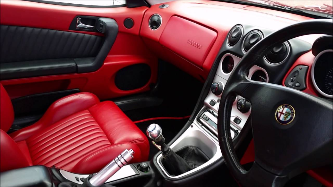 1999 alfa romeo gtv 3 0 v6 24v lusso red style interior at italicar youtube. Black Bedroom Furniture Sets. Home Design Ideas
