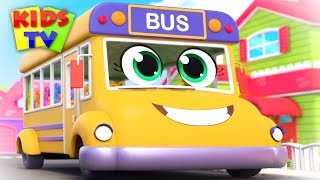 Wheels on the bus go round and round | Popular Nursery Rhymes & Songs for Children | Baby Toot Toot