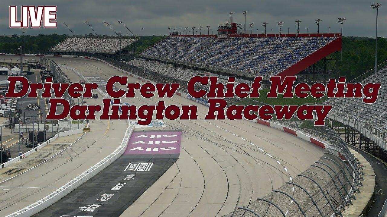 LIVE NASCAR Cup Series Drivers Meeting | Toyota 500 at Darlington Raceway