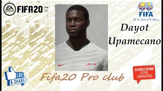 FIFA 20 Dayot Upamecano Look alike in RB Leipzig // Fifa20 Pro club
