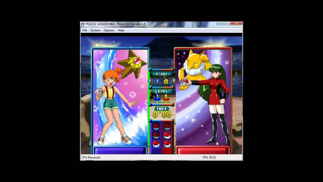 52ca6eae50ed Pokemon Puzzle League Misty(Me) vs Sabrina - YouTube