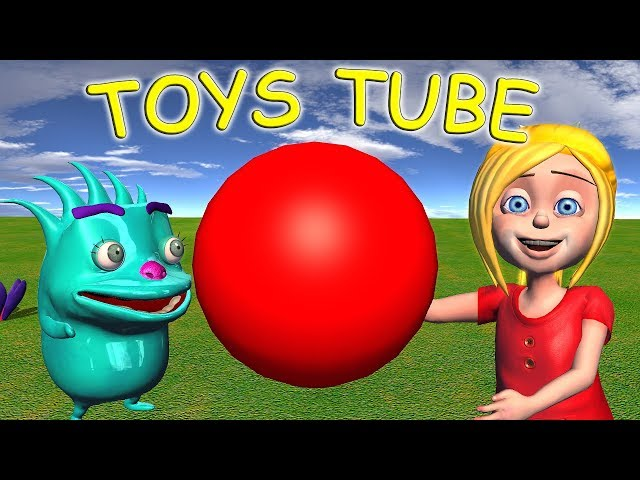 Learn Colors and Circles for Children with Kids Toys Tube
