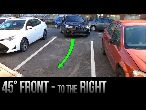 How To Park at 45 degrees To The Right