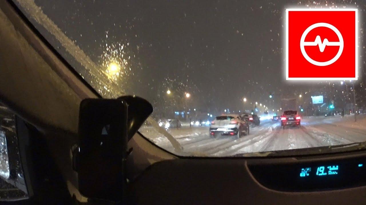 Zimowy dramat na drodze