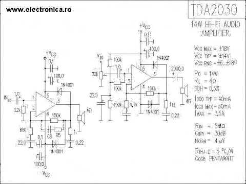 tda2030 audio amplifier circuit  YouTube
