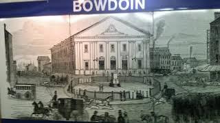 Boston MBTA Blue Line Train at Bowdoin Station 米国ボストン地下鉄ブルーライン始発駅ボードイン駅