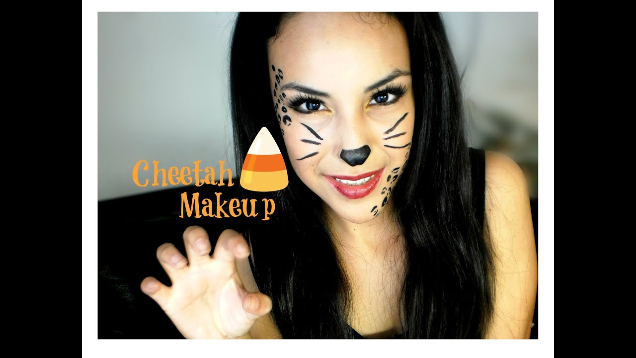 Cheetah Halloween Makeup Tutorial - YouTube