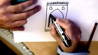 Islamic art - How to draw an Islamic Prayer mat