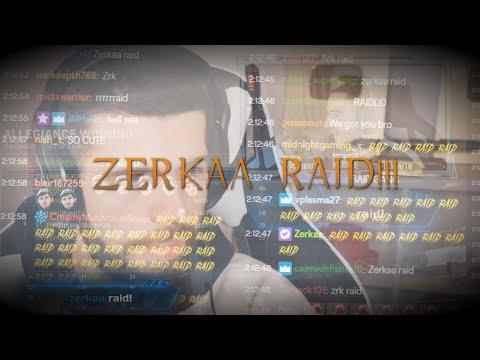 Zerkaa RAIDED ME ON TWITCH!!! (MW Highlights #2)