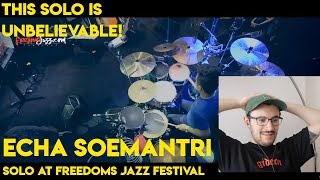 Drum Teacher reacts to Echa Soemantri (Solo Live at FreedomJazzFestival)